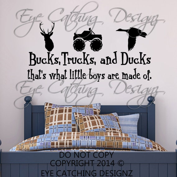 Bucks Trucks Ducks That's What Little Boys Are Made Of