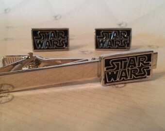 Close out sale - Gift Set - Star Wars Cufflinks and Tie Tack  with Free Gift Box