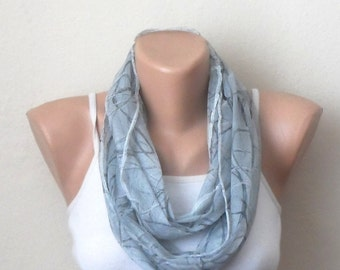 gray infinity scarf gray tülle fabric loop scarf