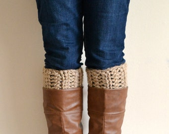 Barley Chunky Boot Cuffs // Boot Socks, Button Legwarmers, Boot Toppers