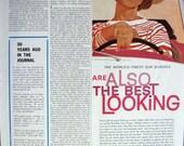 Vintage Ray-Ban Sun Glasses girl cruising classic 1961 Print Ad