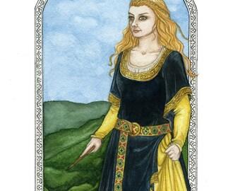 Helga Hufflepuff Hogwarts Founder Art Print 8.5x11 inch size