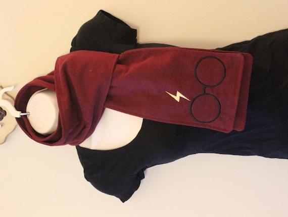SALE Boy Wizard Burgundy Flannel Scarf