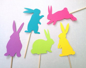 5 Easter Bunny Photo Booth Props - Spring Photo Booth - Easter Photobooth Props - Easter Bunnies