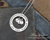 Grandmother Necklace - Grandchildren are life's greatest blessings - Grandchildren's Momogrammed/Initials Necklace