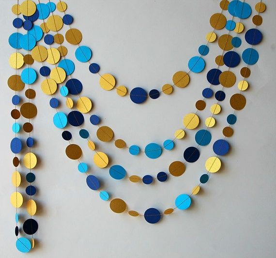 Royal Blue And Gold Wedding Decorations: Royal Blue Wedding Decor Gold Garland Wedding Decorations