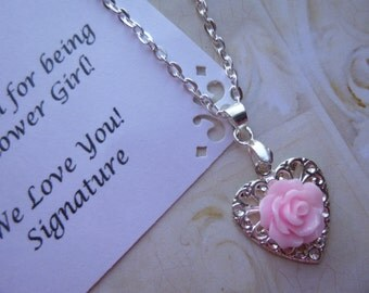 Flower Girl Necklace, Flower Girl Gift, Bridesmaid Necklace, Bridesmaid Gifts, Flower Girl Jewelry, Bridesmaid Jewelry, Childrens Necklace