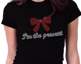 I'm the Present Christmas Rhinestone Shirt