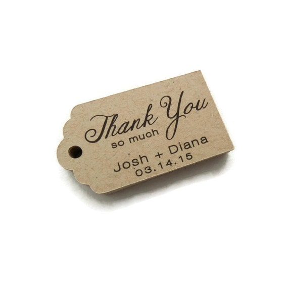 Custom Wedding Favor Tags Thank You Tags Personalized Tag