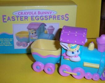 1993 Hallmark Crayola Easter Eggspress Train Figure Candy Bowl EUC with Original Box