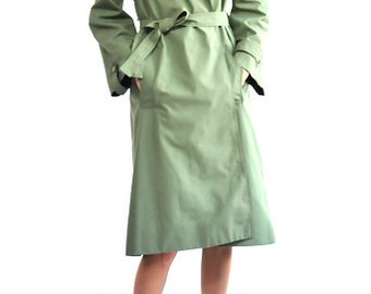 Guy Laroche 1970's Green Trench Coat
