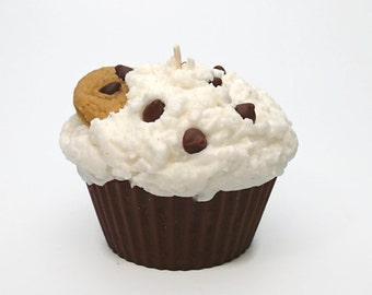Jumbo Chocolate Chip Cookie  Cupcake Candle