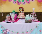 Print Your Fiesta digital party set - Strawberry Pink - invitation cards, cupcake wrappers, toppers, banner, food nad bottle labels