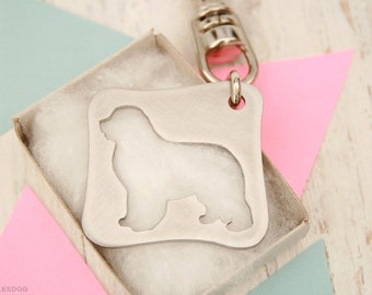 free shipping - Newfoundland Newf Newfie The Gentle Giant Charm Jewelry Stainless steel Key Chain Cut Out