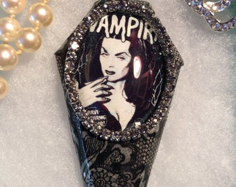 Vampira Coffin Pendant