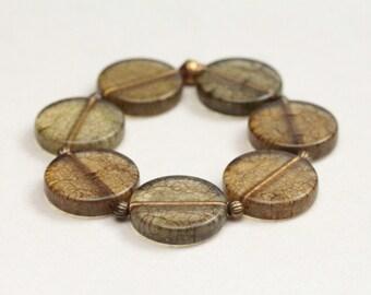 stocking stuffer / best selling bracelet / boho style jewelry / geometric acrylic jewelry / stretch bracelet / circle bracelet #401