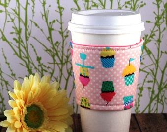 Fabric Coffee Cozy / Cupcakes Coffee Cozy / Cake Coffe Cozy / Snack Coffee Cozy / Sweets Coffee Cozy / Coffee Cozy / Tea Cozy