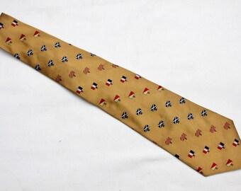 """90's Vintage """"TOMMY HILFIGER"""" Silk Designer Neck-Tie"""