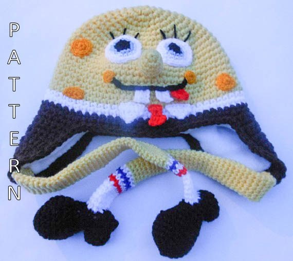 Spongebob Hat Crochet Pattern by WistfullyWoolen on Etsy