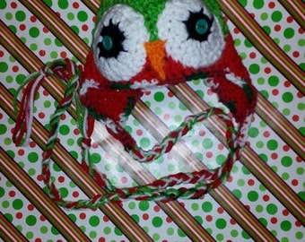 Happy Owlidays.....earflap hat