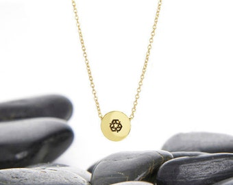 Recycle Necklace, Recycle Charm, Recycle Jewelry, Layer Necklace, Recycle Symbol, JIN246SBR