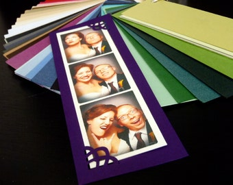 Photo Strip Frames Unique Wedding Favors for Photo Booth fit 2 X 6 strips or Custom Sized Metallic Shimmer Matte Colors Magnetic Optional
