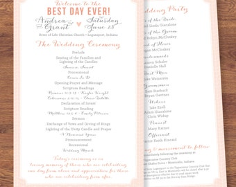 Best Day Ever | Printable Wedding Program