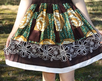 Knee Length Girls Skirt