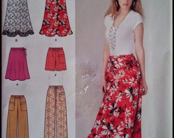 Simplicity 1807  Misses' Skirt  in Two Lengths, Pants in Two Lengths And Shorts  Size (16-24)  UNCUT
