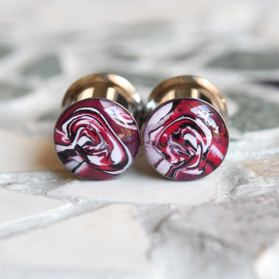 00 Gauge Plugs 10mm Plugs Red Gauges Clay Plugs by ...
