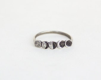 Moon Phase ring- Silver