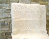 Knitting pattern baby blanket of knit and purl design - instant download