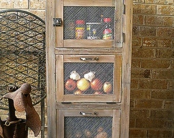 Vegetable Storage Cupboard Kitchen Cabinet Of Reclaimed Wood
