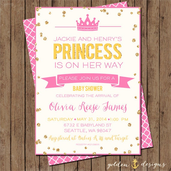 our little princess baby shower invite digital file printable