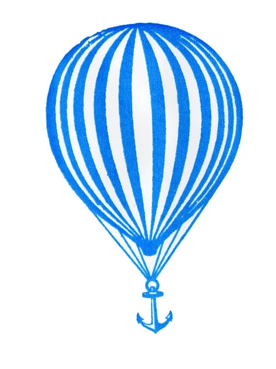 Modest mouse balloon and anchor screen print we were for Anchor balloon decoration
