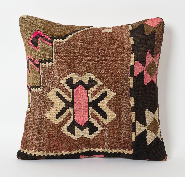 Vintage Pillows: Vintage Kilim Pillow Cover Decorative Kilim Pillows Hand
