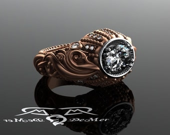 versailles baroque 18kt rose gold platinum antique style diamond two tone east west oval - R2d2 Wedding Ring