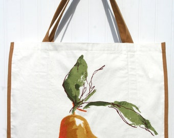 Golden Pear Marketing Bag - Tote  Bag - Farmers Market Bag