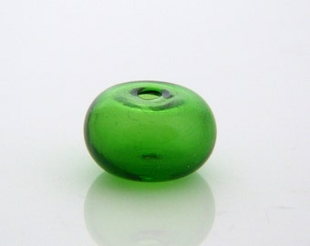 1 Handmade Glass Bauble - Grass Green Glass Bauble - Jewelry Supply