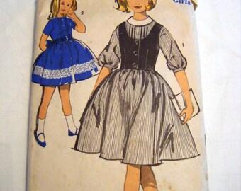 Vintage Advance 2988 Girls dress and weskit vest pattern sewing pattern