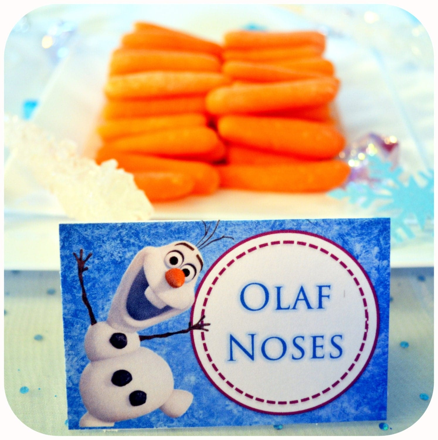 Disney FROZEN Birthday Party Food Labels With By