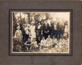 Antique Photo of Large Group Outting