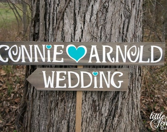 Wedding Signage, Wood Wedding Signs, Country Wedding Sign, Wedding Beach Sign, Wedding Beach Decor, Wedding Arrow Sign, Custom Wedding Sign