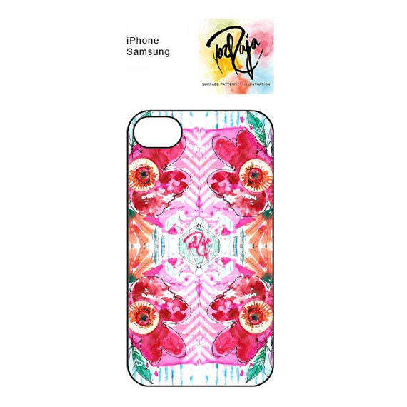 iPhone and Samsung Marbling Florals phone case