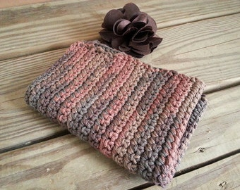 Brown Kitchen Towel Tea Towel Crochet Towel Ready to Ship BEST SELLER