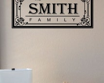 popular items for last name wall art on etsy. Black Bedroom Furniture Sets. Home Design Ideas
