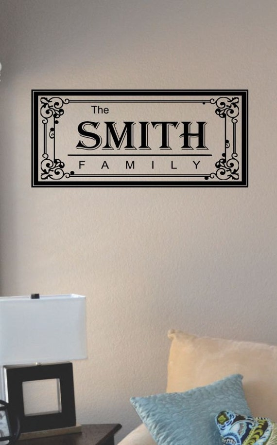 slap art personalized custom family last by vinylmasterpieces. Black Bedroom Furniture Sets. Home Design Ideas