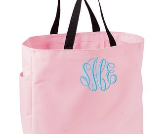 SET of 9 Monogrammed Tote Bags - Perfect for Bridesmaids