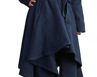 ChomThong Hand Woven Cotton Pleated Coat (JNN-081-04)