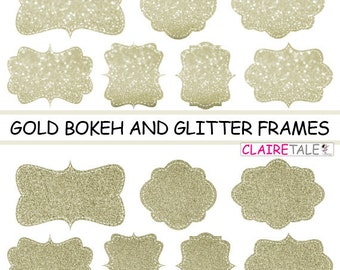 digital clipart labels gold bokeh glitter frames bokeh and glitter clipart frames labels tags on gold background